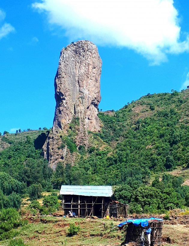 Al lopend door het Amhara gebied