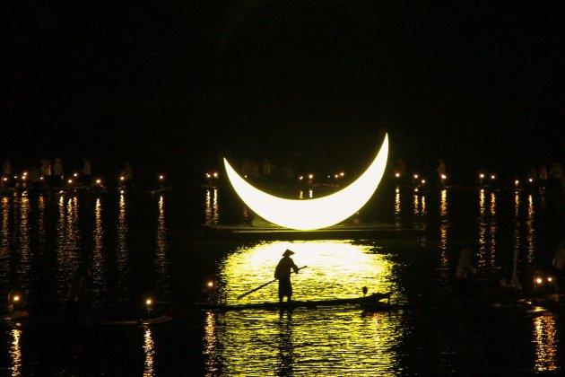 Het licht- en geluid festival van Yangshuo