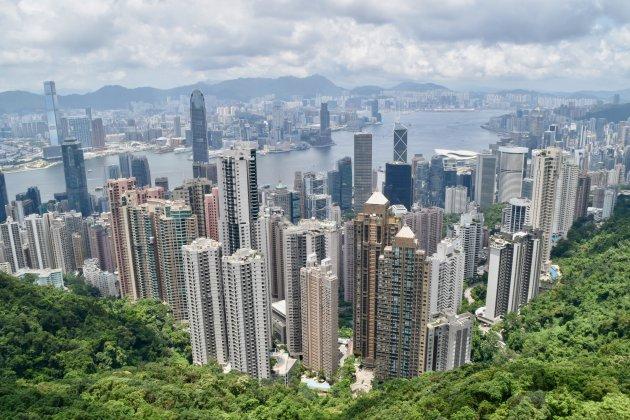 Uitzicht over Hongkong vanaf The Peak