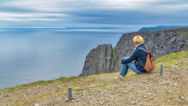 Eindeloos uitzicht op de Noordkaap