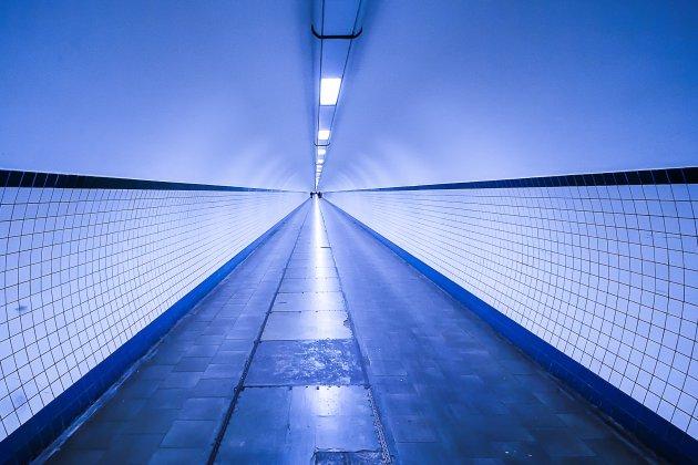 De tunnel onder de Schelde