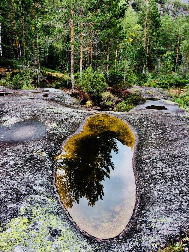 Jettegrytene...een fantastisch rivierlandschap met potholes, maar niet makkelijk te vinden.