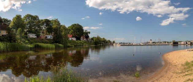 Een zelf gevonden camperplek in Riga