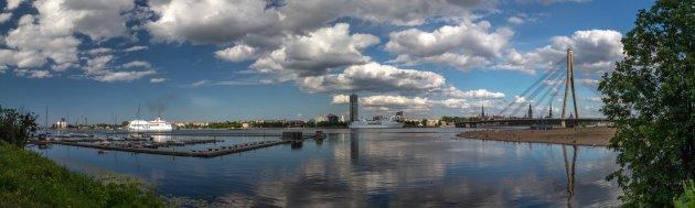 Een fenomenaal uitzicht vanuit de camper in Riga
