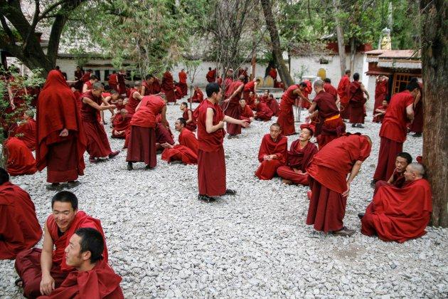 Debatteren in Tibet