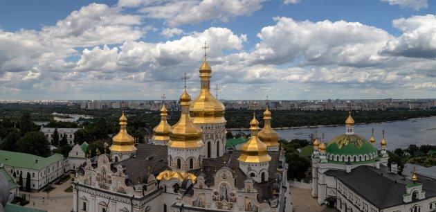 Uitzicht over het Lavra complex in Kiev
