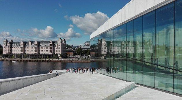 Het operagebouw in Oslo