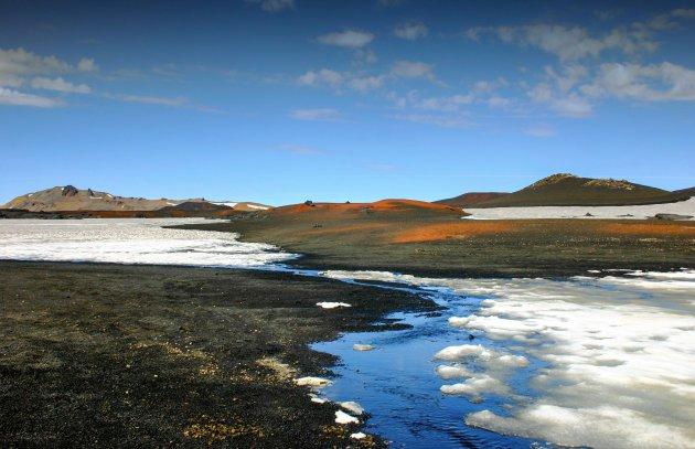 Wandelen naar vulkaan Askja