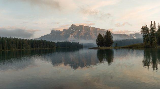 Vergeten meer in Banff