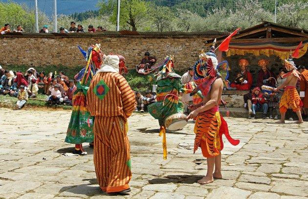 Dorpsfeest in Bhutan