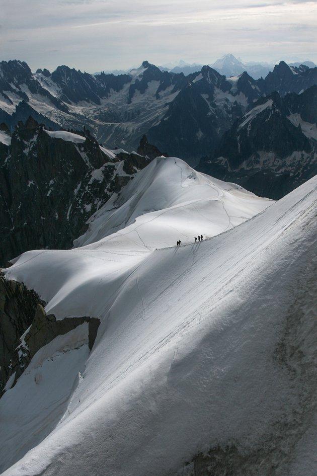 Vertrekpunt bergbeklimmers