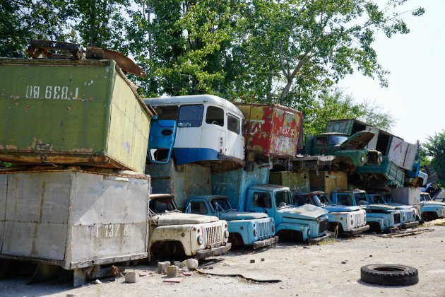 Verlaten autofabriek