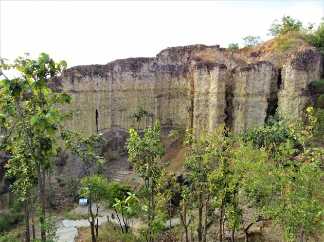Door erosie gevormde cliffen.