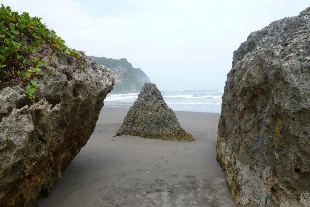 Strand bij yogyakarta