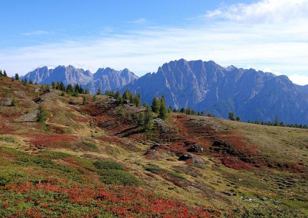uitzicht op de Lienzer Dolomieten