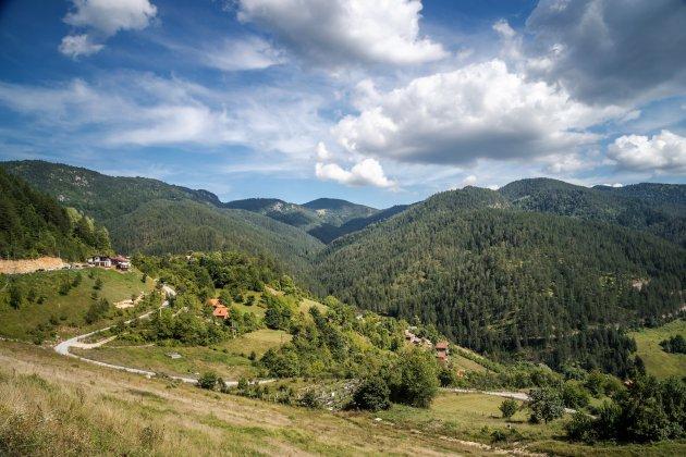 Het Taragebergte in Servie.