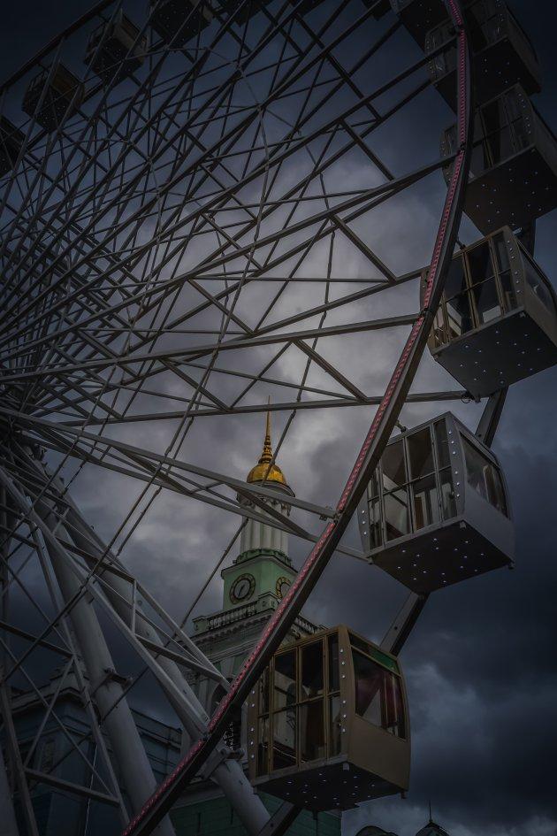 Een kermisattractie in Kiev