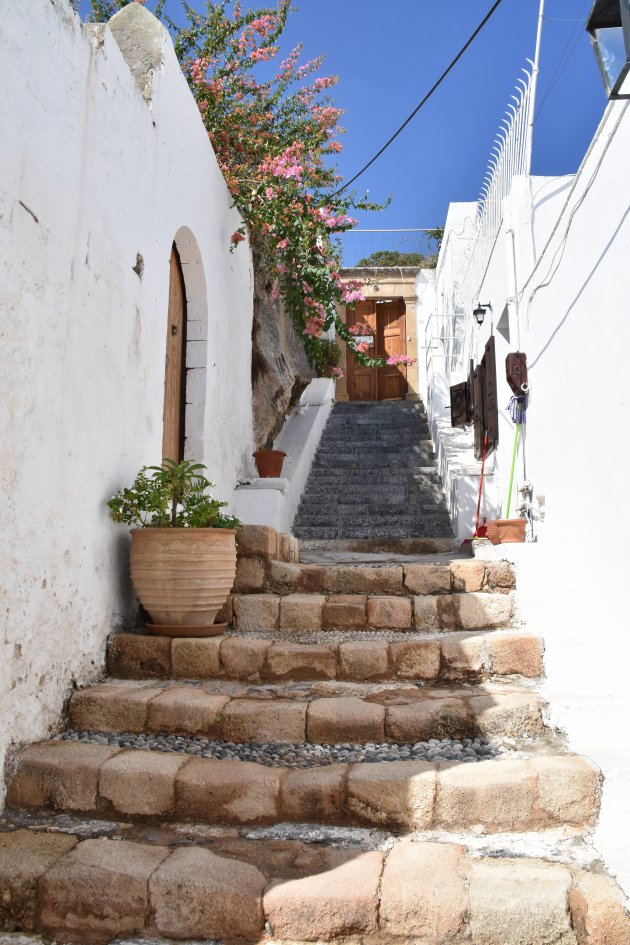 Trappen in Lindos