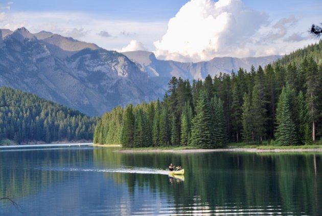 Kanoën door de Rockies