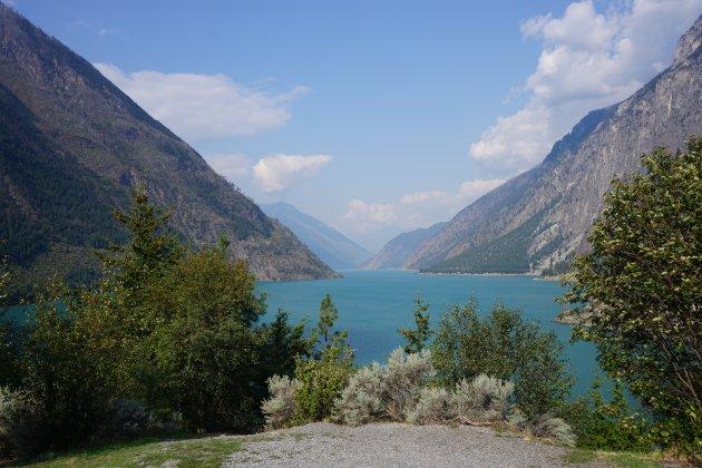Seton Lake tussen Lillooet en Whistler