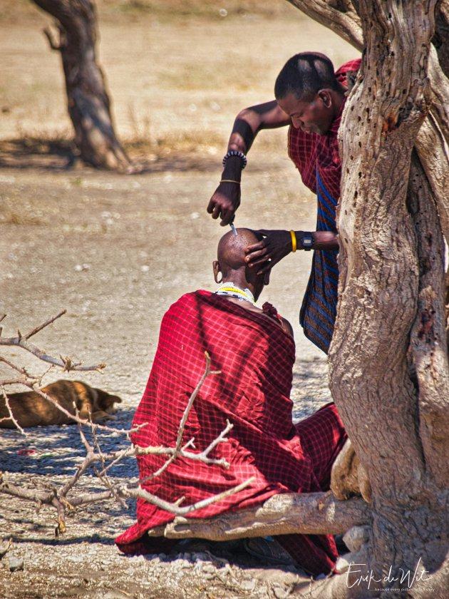Kappertje bij de Massai.