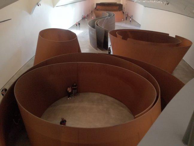 Kunstwerken Richard Serra in het Guggenheim
