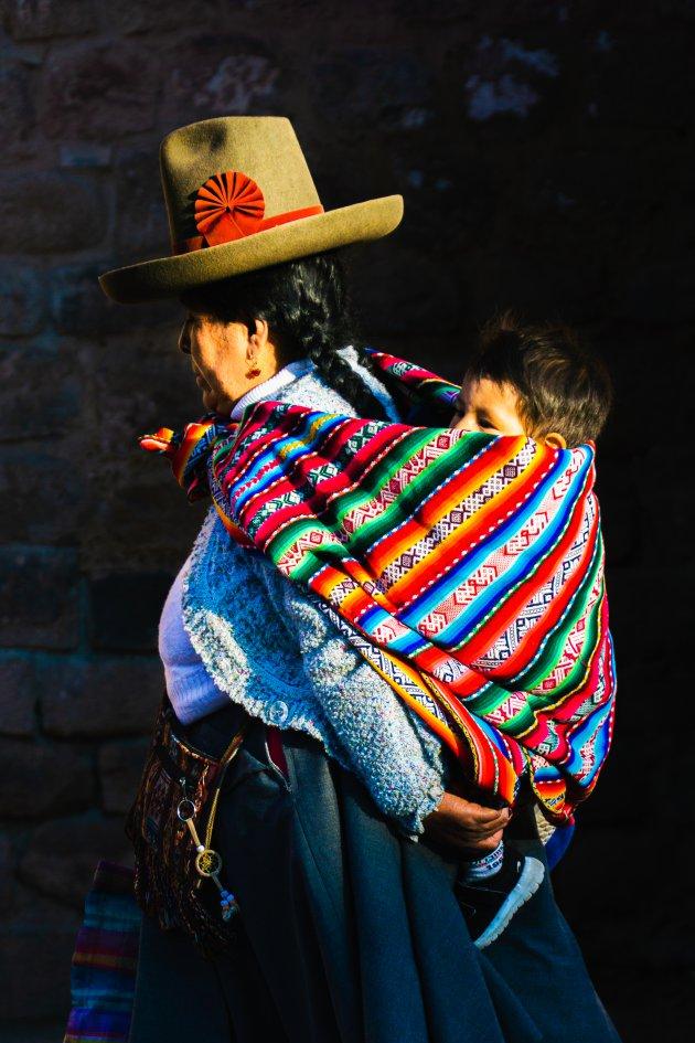 Lokale mensen spotten in Cusco