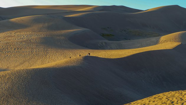 zonsondergang Great Sand Dunes NP