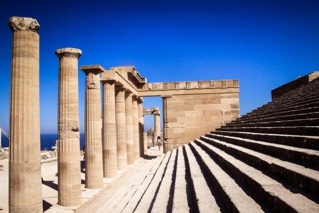 De Akropolis  van Lindos.