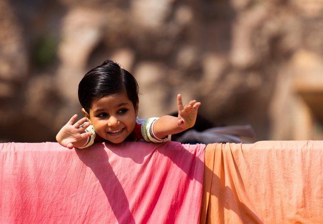 De 'opgemaakte' kindjes van India