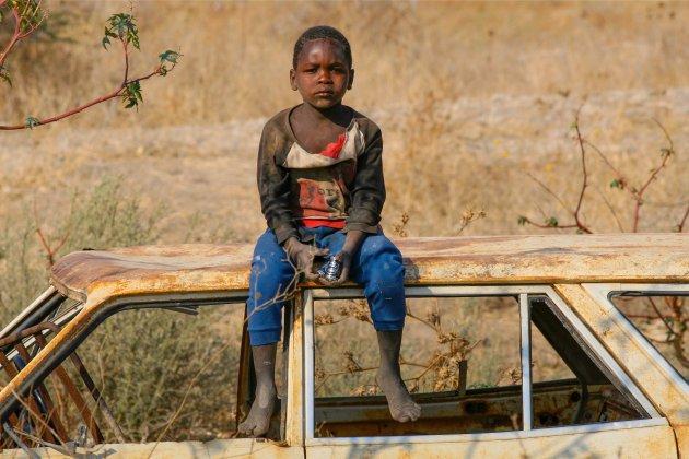 De speelplaats voor jonge kinderen in Botswana