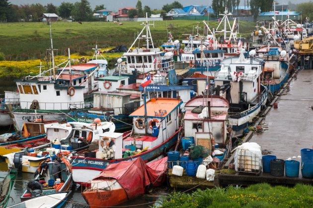 Een eeuwige opstopping van bootjes