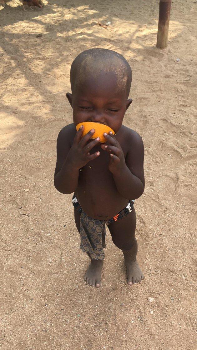 Kid loves the Orange he got.