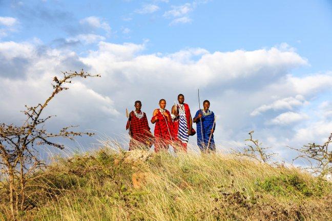 Maasai mannen aan de top van hun gemeenschap