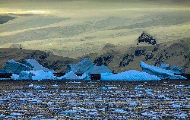 De nacht op Antarctica