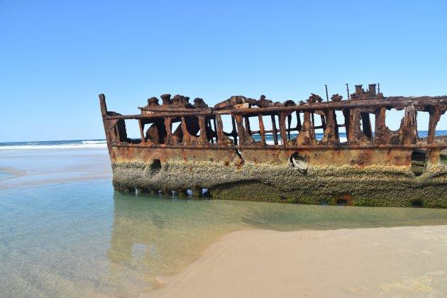 Scheepswrak op Fraser Island
