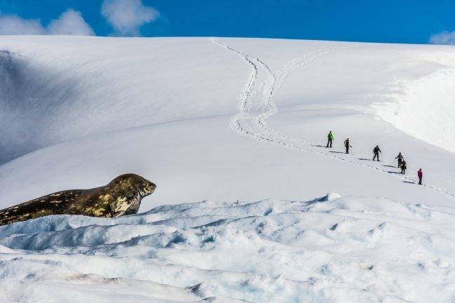 Wandelen op Antarctica