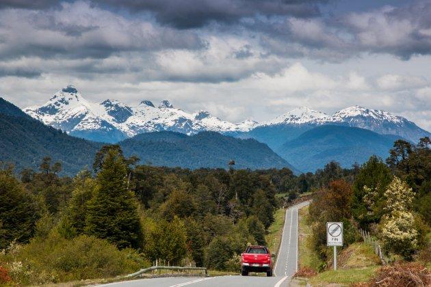 On the road in Patagonië