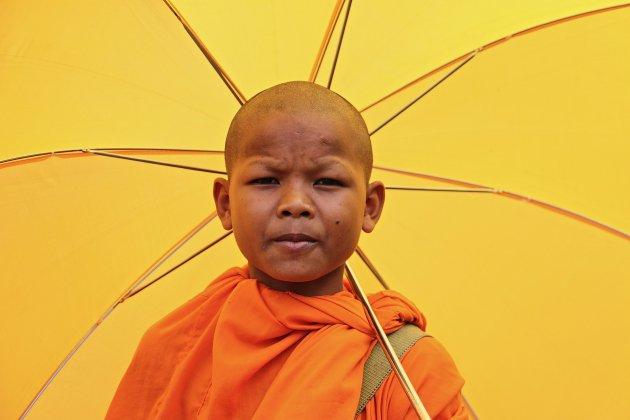 Jonge Cambodjaanse monnik