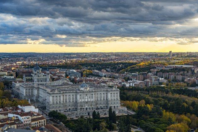 Rooftop uitzicht Madrid