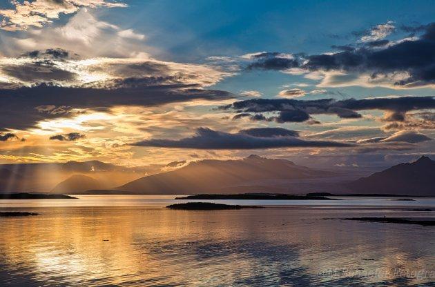 IJslandse Zonsondergang