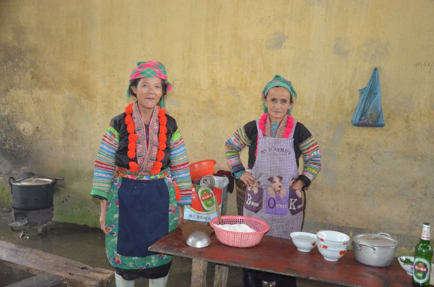De dames van de keuken.