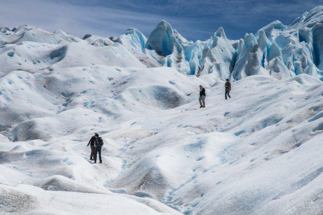 Wandelen over de Perito Moreno Gletsjer