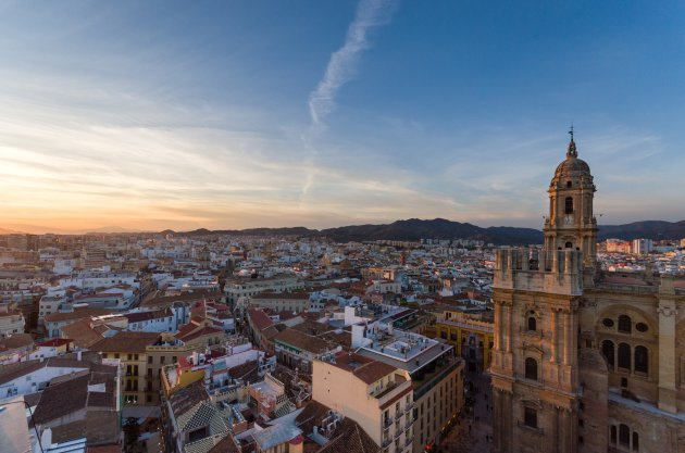 Rooftopview over Malaga