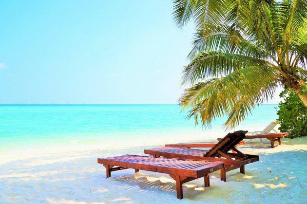 Ons eigen privéstrandje op de Malediven