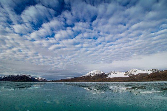 Luchten van Spitsbergen