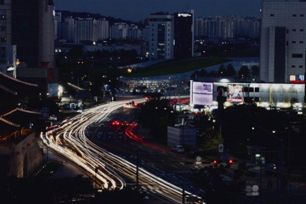Seoul vanaf de stadsmuur