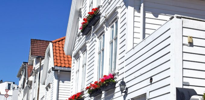 De aparte witte huisjes van Stavanger