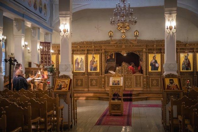 Een kerkdienst in Tallinn