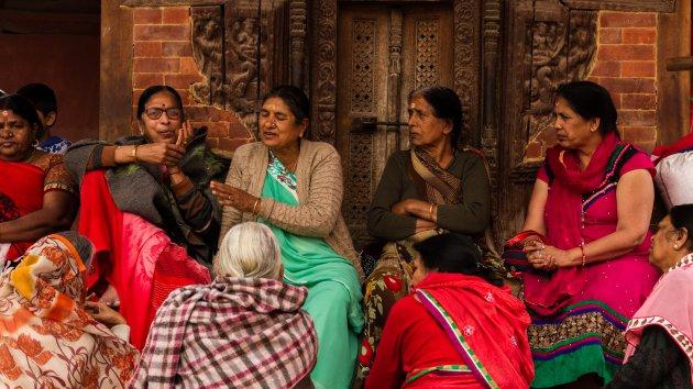portret nepalese vrouwen